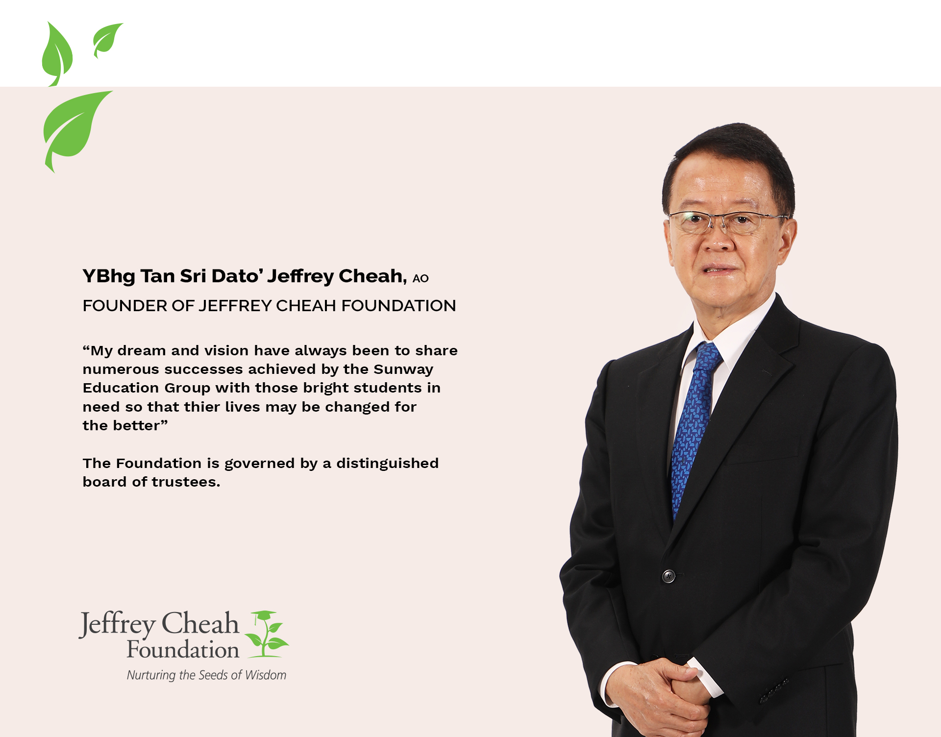 Words of wisdom by Tan Sri Jeffrey